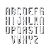Retro fonte, alfabeto, tipo lettere Immagini Stock Libere da Diritti