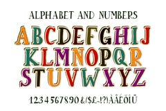 Retro fonte di alfabeto Fotografie Stock Libere da Diritti