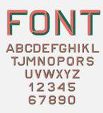 Retro fonte di alfabeto Fotografia Stock