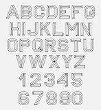 Retro fonte di alfabeto Immagini Stock