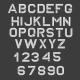 Retro fonte di alfabeto Immagine Stock