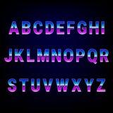 Retro fonte di alfabeto 80 da ` s Fotografia Stock Libera da Diritti