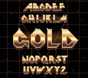 retro fonte di alfabeto di 80 s Fotografia Stock