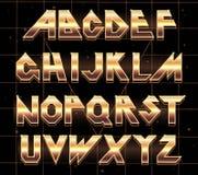 Retro fonte di alfabeto 80 s royalty illustrazione gratis