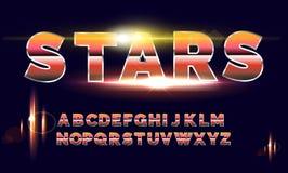 retro fonte di alfabeto di 80 ` s Stile di futuro di fantascienza Immagine Stock Libera da Diritti