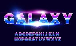 retro fonte di alfabeto di 80 ` s Stile di futuro di fantascienza Immagini Stock Libere da Diritti