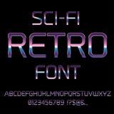 Retro fonte di fantascienza Fotografia Stock
