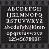 Retro fonte tipografica Fotografia Stock Libera da Diritti