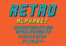 Retro fonte tipografica royalty illustrazione gratis