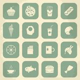 Retro Food Icons. Vector illustration Royalty Free Stock Image