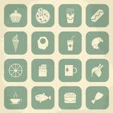 Retro Food Icons. Vector illustration Royalty Free Stock Image
