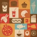 Retro Food Icons. Vector illustration Stock Photos