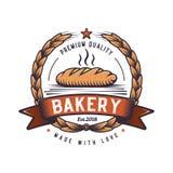 Retro food illustration. Hipster emblem logo design. Oven bread logo design. Cheese logo. Design, oven baked stock illustration