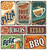Retro food posters and design elements Royalty Free Stock Photo