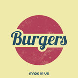 Retro Food Sign - Vintage Background Stock Image