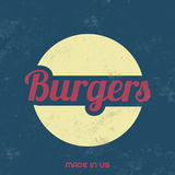 Retro Food Sign - Vintage Background Royalty Free Stock Images