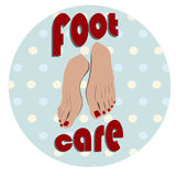 Retro foot icon Royalty Free Stock Photography