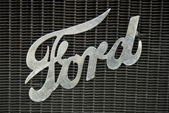 Retro Ford car sign Stock Photos