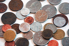 Retro foreign coins Royalty Free Stock Image
