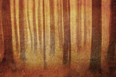 Retro forest Stock Photography