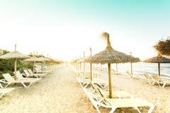 Retro- Foto der Ansicht vom Strand Lizenzfreie Stockbilder