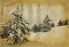 Retro foto di inverno Fotografie Stock Libere da Diritti