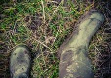 Retro foto di stile degli stivali di gomma Fotografie Stock Libere da Diritti