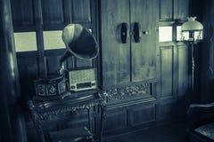 Retro foto för traditionell thailändsk musikspelare Arkivfoto