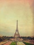 Retro- Foto mit Paris, Frankreich, Weinlese Lizenzfreies Stockbild