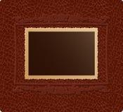 Retro foto op huidachtergrond Royalty-vrije Stock Afbeeldingen