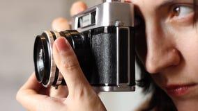 Retro fotocamera stock videobeelden