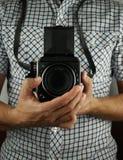 Retro fotograaf Royalty-vrije Stock Foto