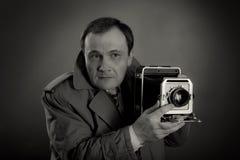 Retro Fotograaf stock foto