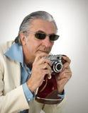 Retro fotograaf stock afbeeldingen