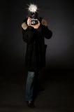 Retro Fotograaf van de Stijl Royalty-vrije Stock Fotografie