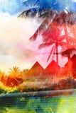Retro fotografia drzewka palmowe Obraz Royalty Free