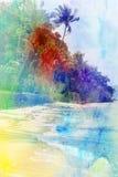 Retro fotografia drzewka palmowe Obraz Stock