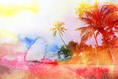 Retro fotografia drzewka palmowe Fotografia Stock