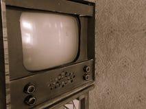 Retro fotografia - Retro TV, Domowej roboty TV, wyłączna technika Zdjęcia Stock