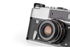 Retro fotografii kamera na bielu Zdjęcie Stock