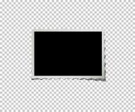 Retro fotografii rama na przejrzystym tle wektor Obrazy Stock