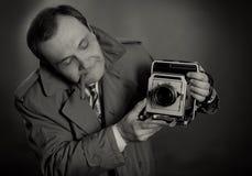 Retro fotografo Immagine Stock Libera da Diritti