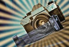 Retro fotographia Fotografia Stock
