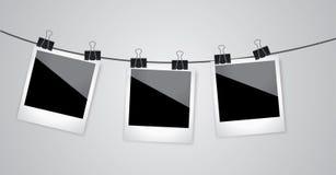 Retro fotokader op grijze achtergrond Vector beeld Royalty-vrije Stock Fotografie