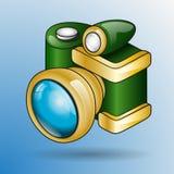 Retro- Fotokamera der Karikatur lizenzfreie stockfotografie