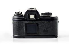 Retro- Fotokamera lokalisiert auf Weiß: Beschneidungspfad Stockbild