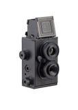 Retro- Fotokamera mit zwei Linsen Lizenzfreies Stockbild