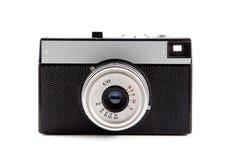 Retro fotokamera som isoleras på vit bakgrund 12 Arkivbild