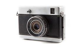 Retro fotokamera som isoleras på vit bakgrund 10 Arkivbilder