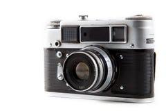 Retro fotokamera som isoleras på vit bakgrund 11 Fotografering för Bildbyråer